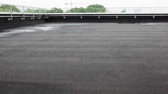 flat roofing work done by our team