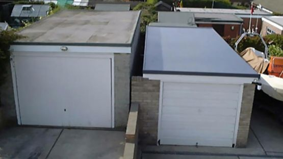 A new flat garage roof installed by our team