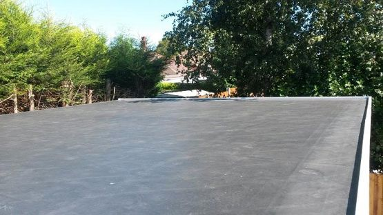 A flat roof that has been installed by our team