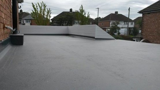 flat roofing work that has been completed by our professionals