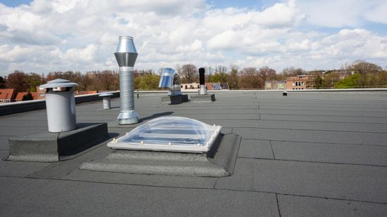 A flat roof work that has been completed by our team